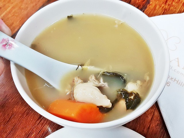 Double-Boiled Fish & Pork Soup With Preserved Silverbeet