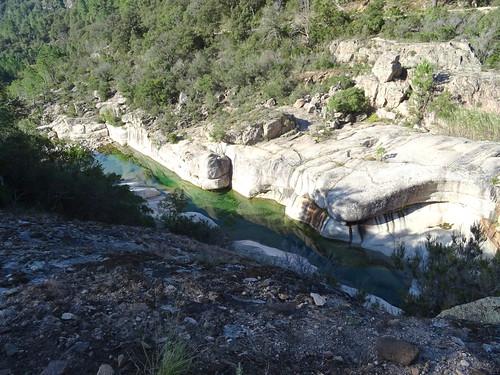 Le Cavu en aval du pont de Marionu depuis le PR3