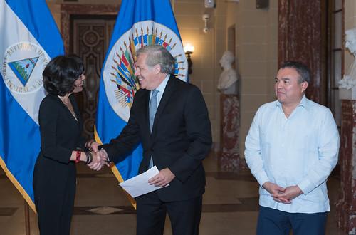 Nueva Representante Permanente de Nicaragua presentó Cartas Credenciales