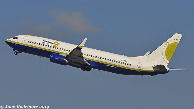 N739MA - Miami Air International - Boeing 737-8Q8 (WL) - PMI/LEPA