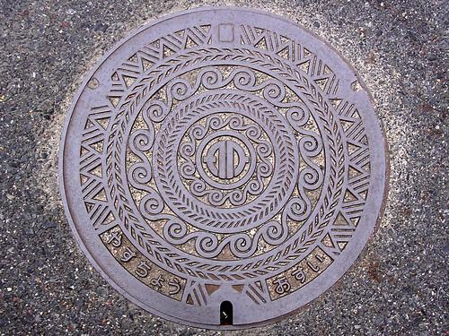 Yasu Shiga, manhole cover (滋賀県野洲町のマンホール)
