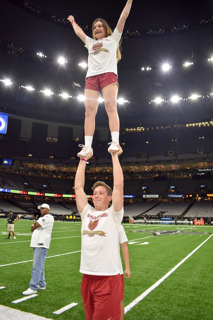 Cheerleading at Saints Game
