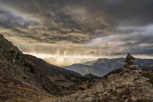 pyrenees mountains clouds sky autumn andorra landscape scenery scenic valley sunrays fog rain sunset epic elitegalleryaoi bestcapturesaoi aoi
