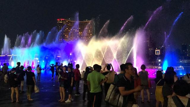 fountain light show
