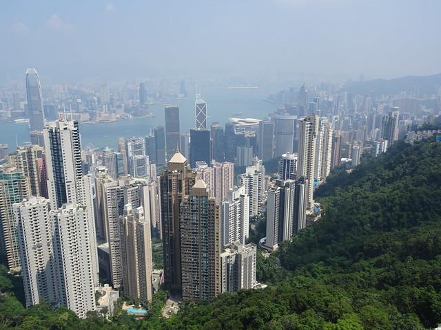 View from the Peak - Hongkong