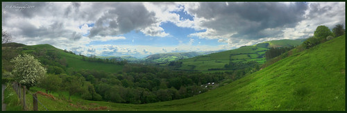 landscape scenic wales valley clouds sky beautiful trees grass