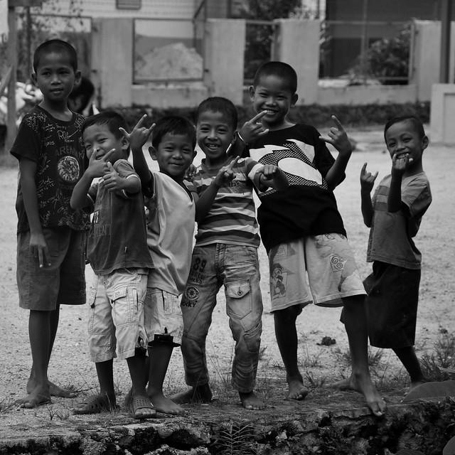 Sorong kids. Papua. Indonesia. 2012.