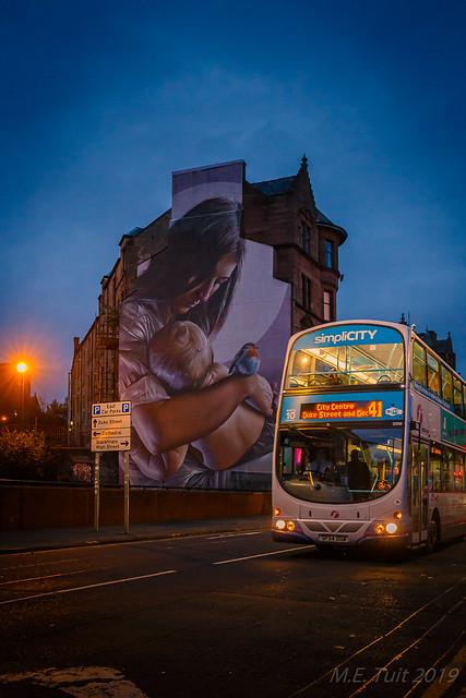 Citybus & street art @ Glasgow