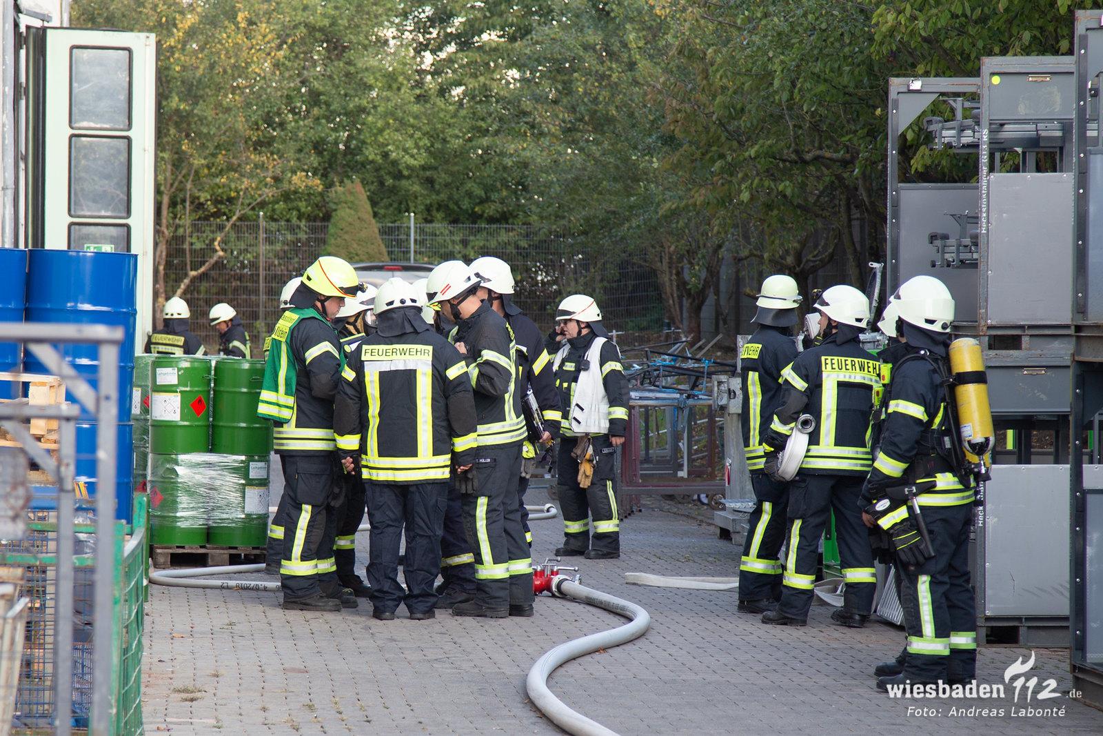 Werkstattbrand Wörrstadt - 02.10.2019