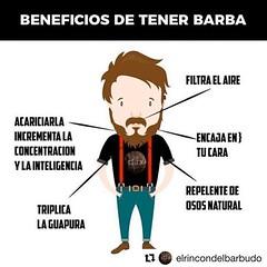 #Repost @elrincondelbarbudo with @get_repost ・・・ Que pasa gente!!! Aún dudáis de los beneficios de llevar una buena Barba?:sunglasses: Que paséis un gran día con una gran sonrisa y recordad, un producto en cada rincón...:beers: https://ift.tt/2mZurMp #bar