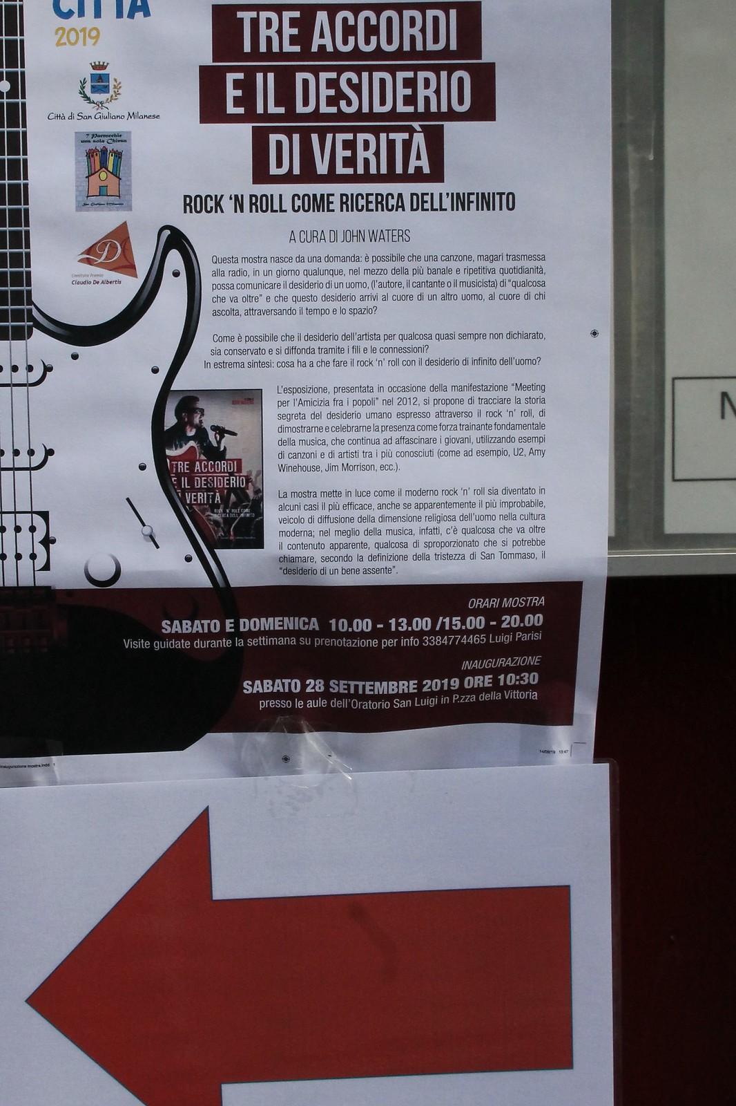 Rock'n Roll all'Oratorio San Luigi, con concerto e mostra