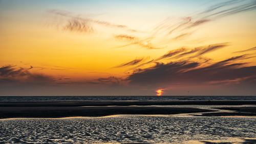 beach clouds colors couleurs landscape naturephotography paysage pentax2470mm pentaxk1 plage sunset letouquetparisplage pasdecalais france