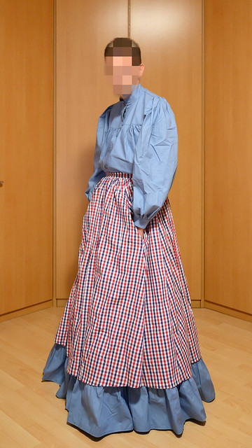 Dresden Blue prairie skirt and shirt with apron