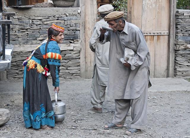 Drinking milk - Kalash 2009