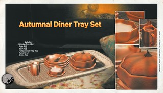 Autumnal Diner Tray Set @ I ♥ The Cart event