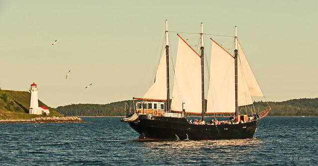 1917 LIGHTHOUSE | GEORGES ISLAND NATIONAL HISTORIC SITE | TALL SHIP SILVA | HALIFAX WATERFRONT | HALIFAX | NOVA SCOTIA | NS | CANADA