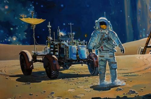 astronaut spaceman smithsoniannationalairspacemuseum washingtondc lunarrover moon stars mural museum space cosmicviewmural canoneosrebelt6i milliecruz ef50mmf18stm