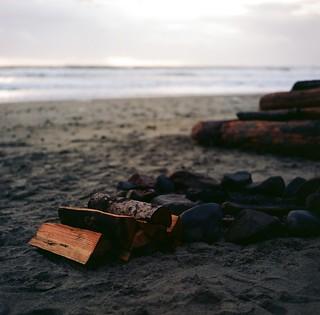 a bonfire's warmth