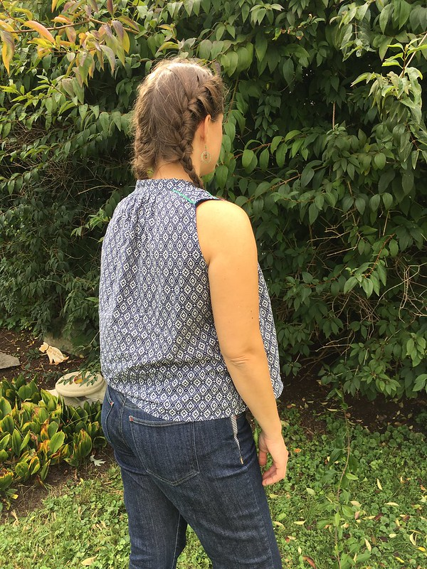 Summer Sewing:  Matcha Top in Italian Voile