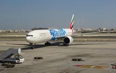 Emirates B777-31H(ER), A6-EPD, as EK 837 DXB-BAH