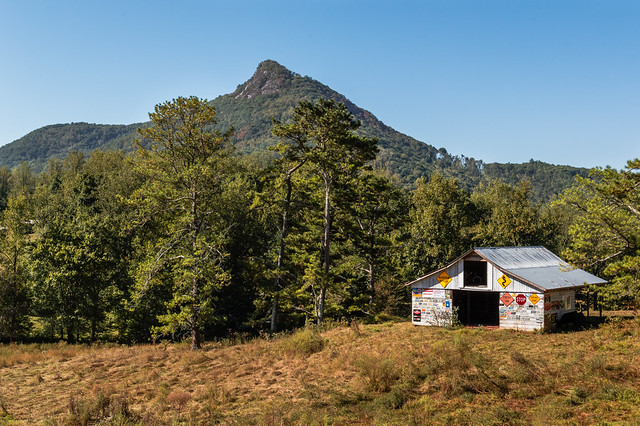 Bell Mountain and Sign Barn