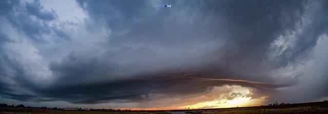 082919 - Thunderstorm & Thunderheads 003 (Pano)