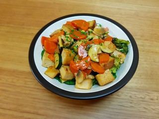 Orange Sauce Tofu and Vegetable Stir-Fry