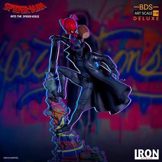 Iron Studios Battle Diorama 系列《蜘蛛人:新宇宙》暗影蜘蛛人&豬豬人 Spider-Man Noir & Spider-Ham 1/10 比例決鬥場景雕像