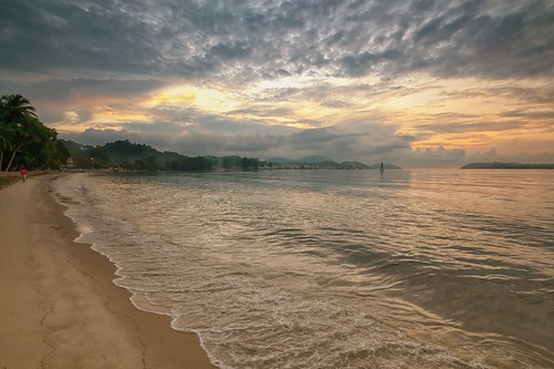 sunset sundown beach coast seascape shoreline cloud sea sky lumut perak malaysia travel place trip canon eos700d canoneos700d sigmalens 10mm20mm wideangle happyplanet asiafavorites