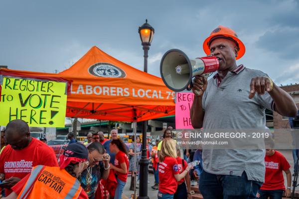 Bronx Brigade Protest State Senator Luis Sepúlveda