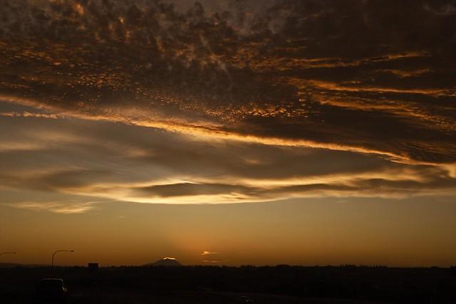 Firery Sunset  -- natures light show