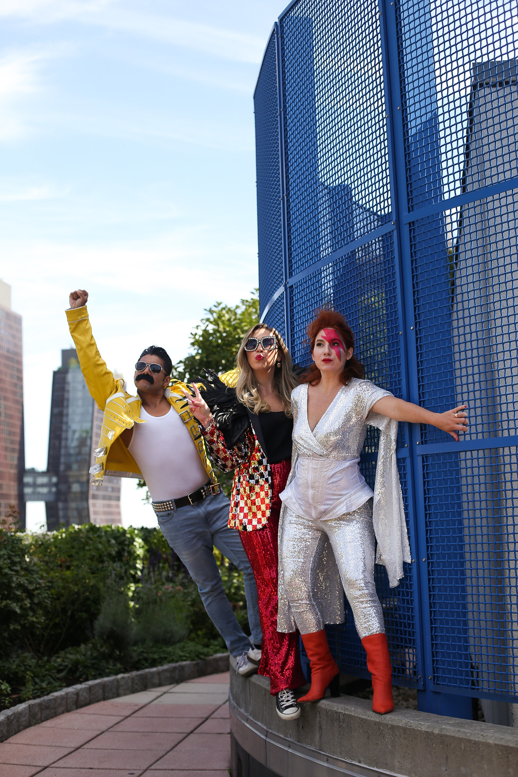 Rock Legends Queen Freddie Mercury Elton John David Bowie BFF Costume