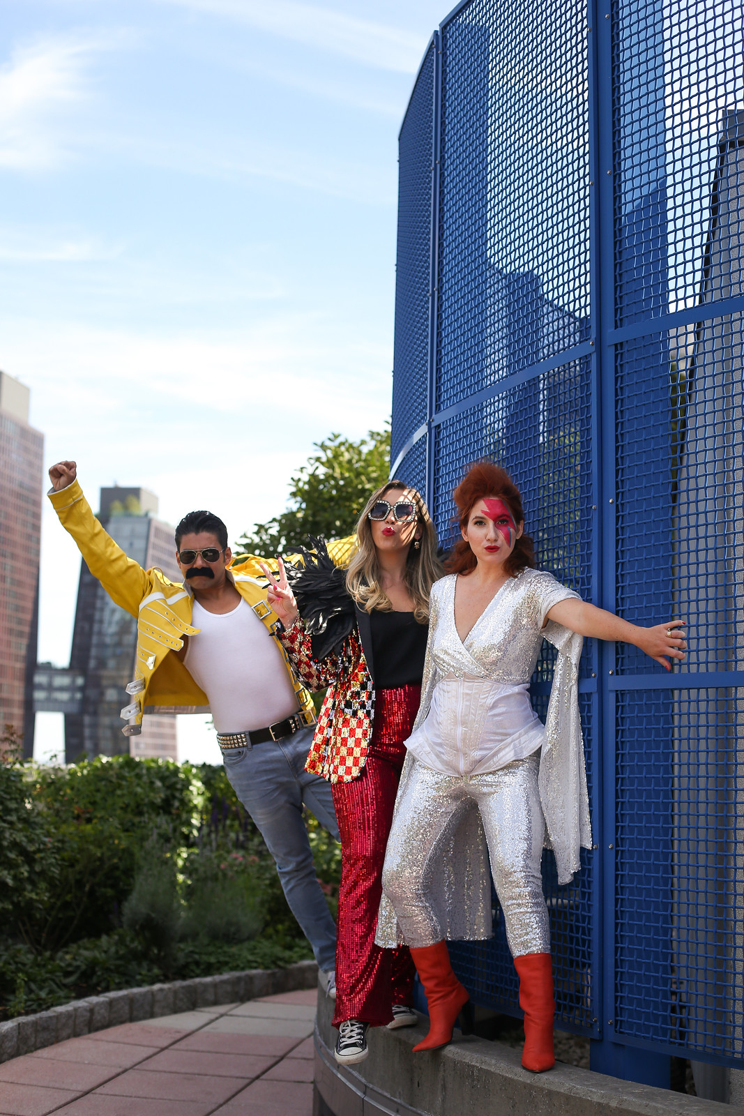 Group Halloween Costumes | Rock Legends | Legendary Rockstars | Elton John Freddie Mercury Queen David Bowie Selena | Glam Sequin Costumes