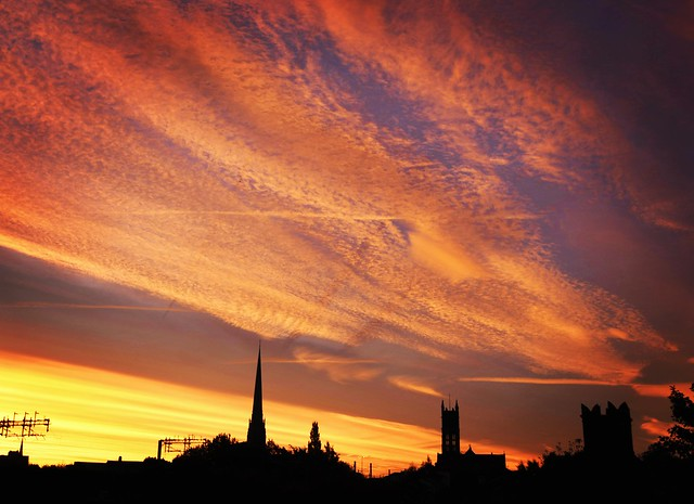 Sunrise over Preston rooftops this morning - explored