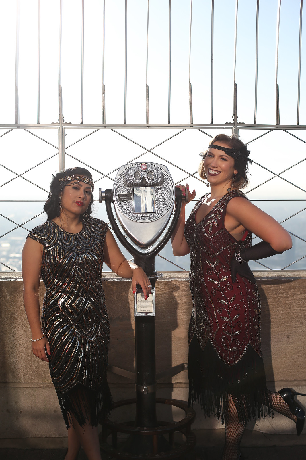 Great Gatsby Roaring Twenties 20s Halloween Costumes | Group Costumes | Fancy Party Costumes | Glam Halloween | Amazon Prime Flapper Dresses | Top Empire State Building Sunrise