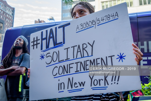 Rally calling Cuomo to pass the HALT Solitary Confinement Act