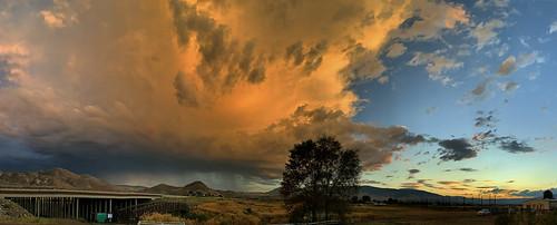 sunsetstorm sunset storm stormclouds reno