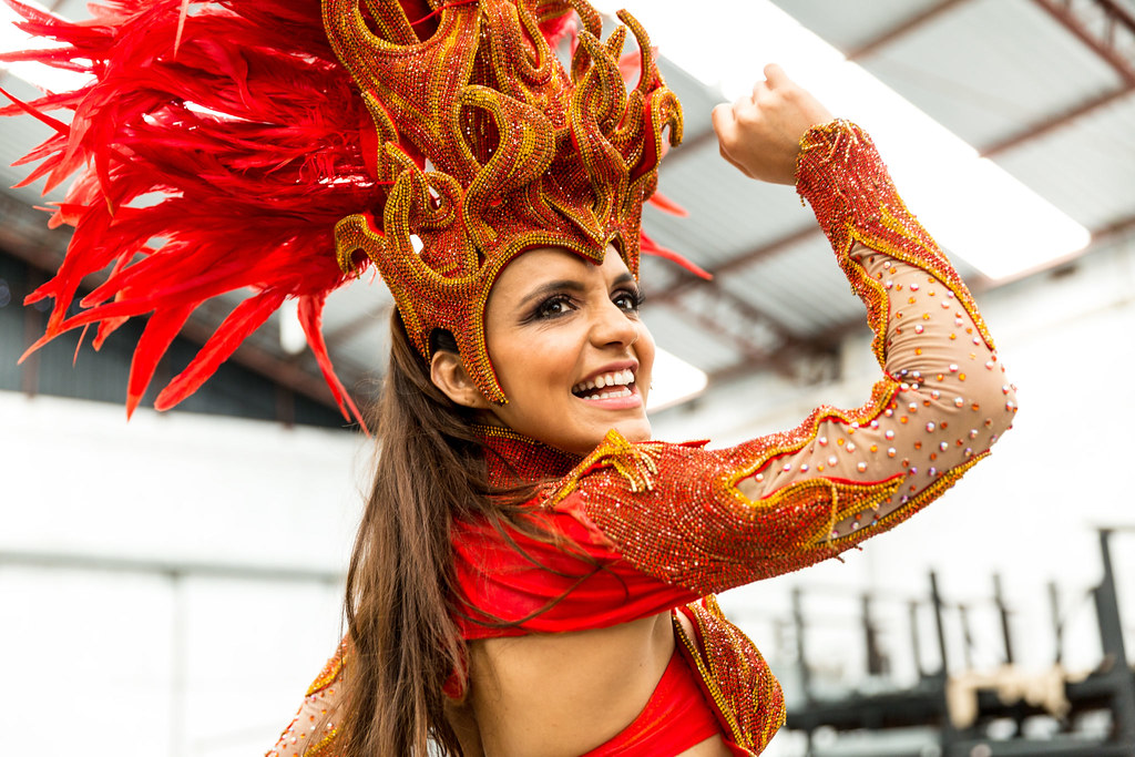 Brazilian Woman Celebrating Carnaval