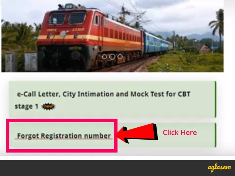 RRB NTPC Registration Number