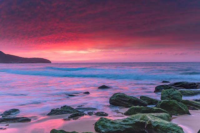 Soft Pink Sunrise Seascape