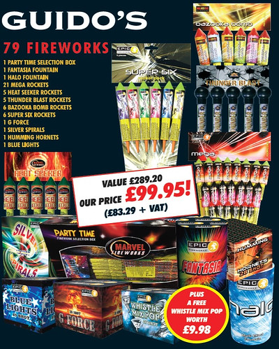 Guido's Bonfire Night Fireworks Package #EpicFireworks