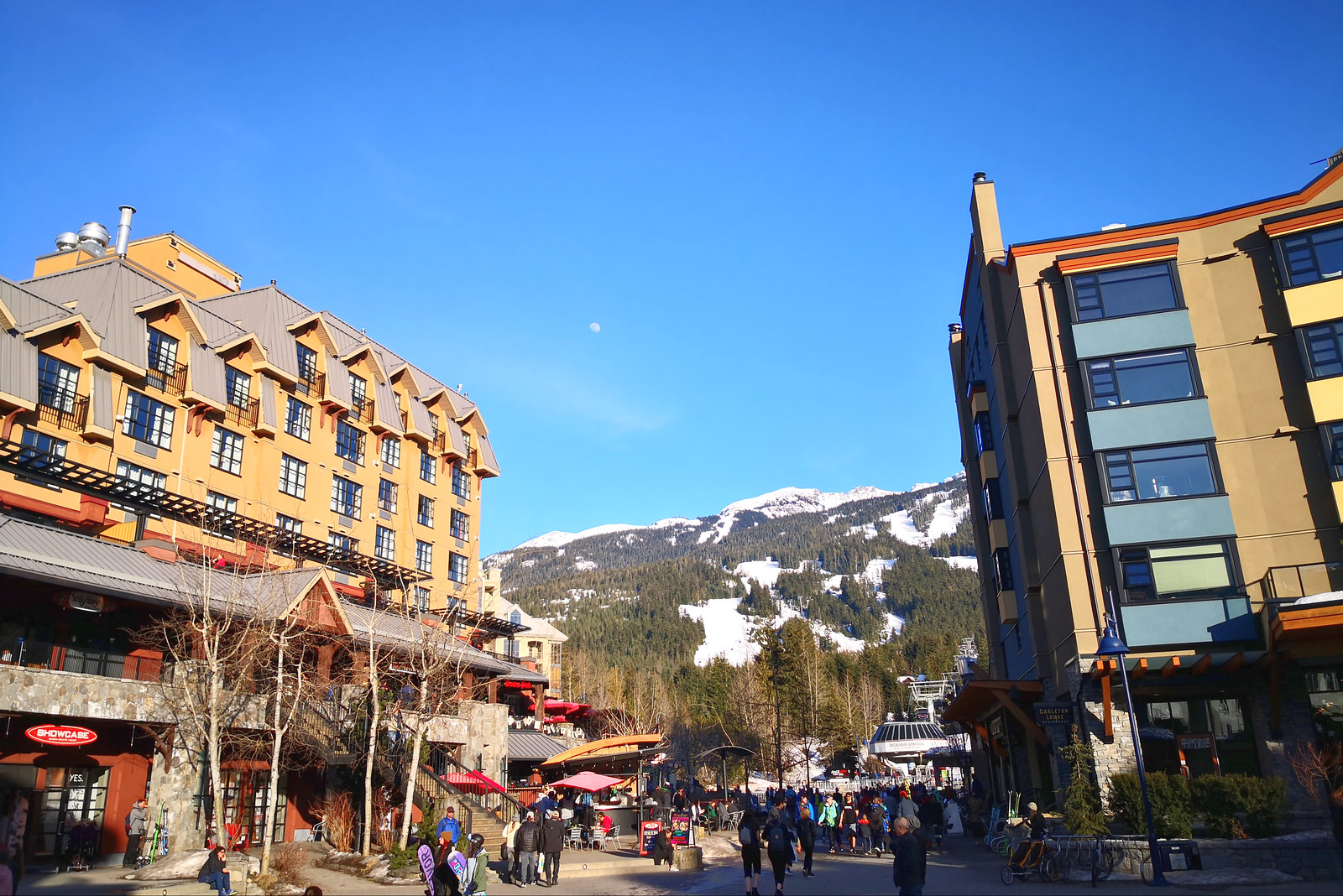 Clear day at Whistler Village