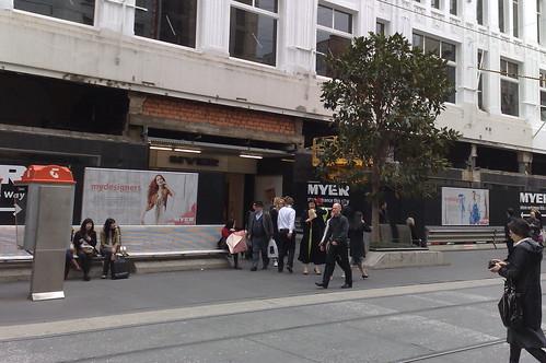 Myer Melbourne renovations September 2009