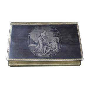 Табакерка. Мастер Жилин И.П. Великий Устюг. 1813