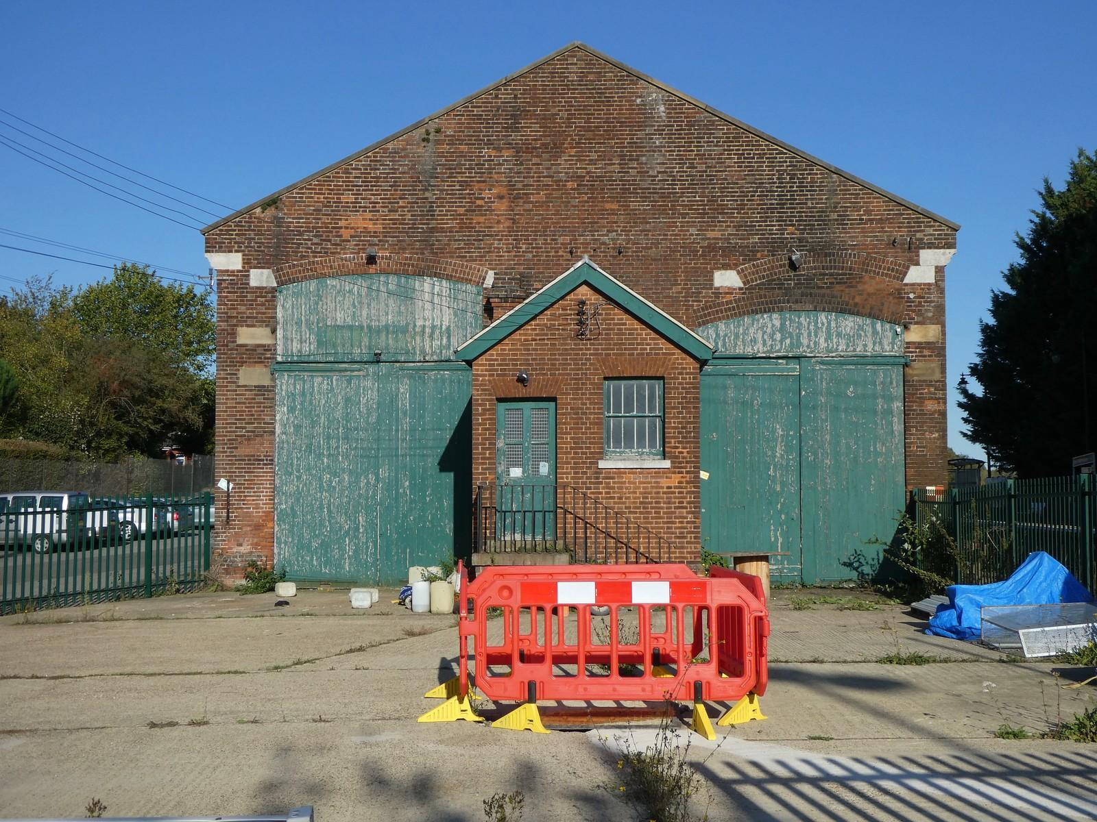 Former freight shed, Wateringbury station Wateringbury Circular walk