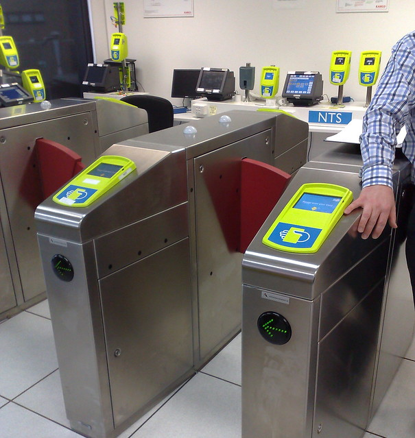Myki test centre September 2009: Fare gates