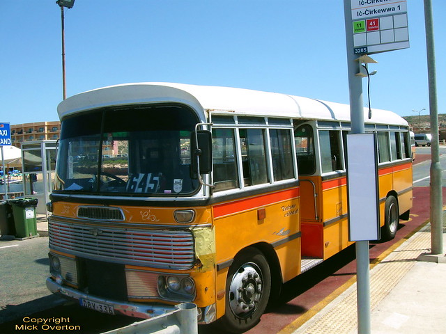Malta bus 1968 Bedford DBY336 27.6.2011 final week in service