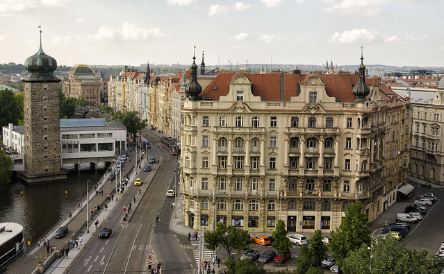 Prague:  View From Atop Dancing Building