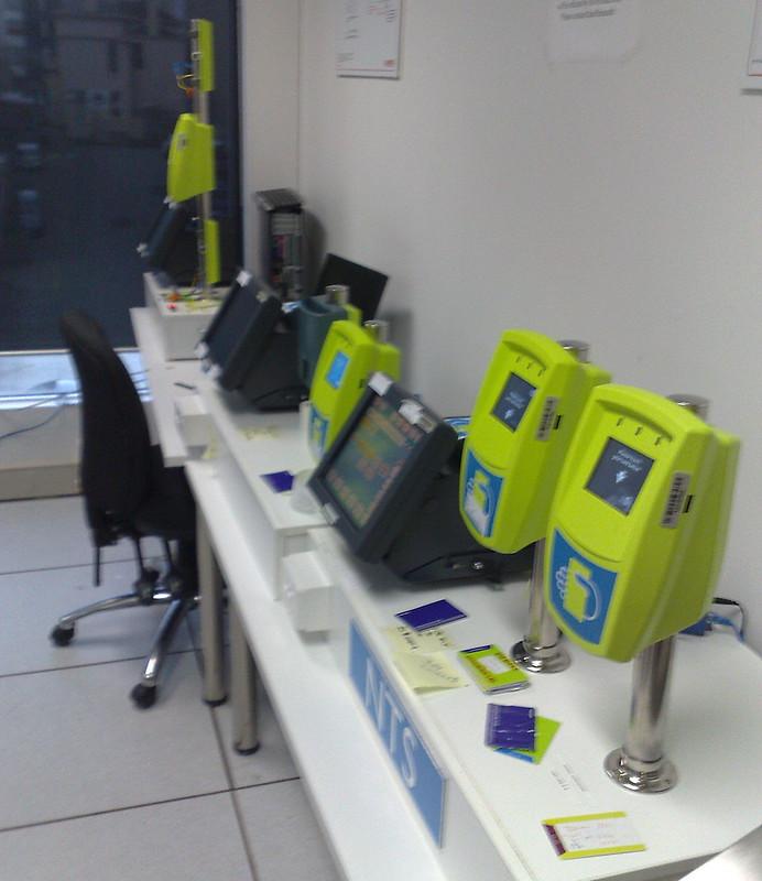 Myki test centre September 2009: readers