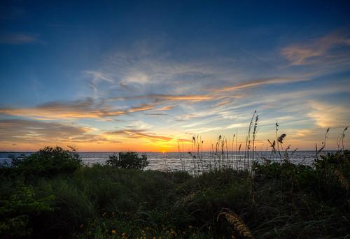 sunset beach ocean gulf florida landscape water gulfcoast sun palmetto emersonpoint